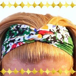 Trashy Diva Green Fan Hairband retro headband NWOT